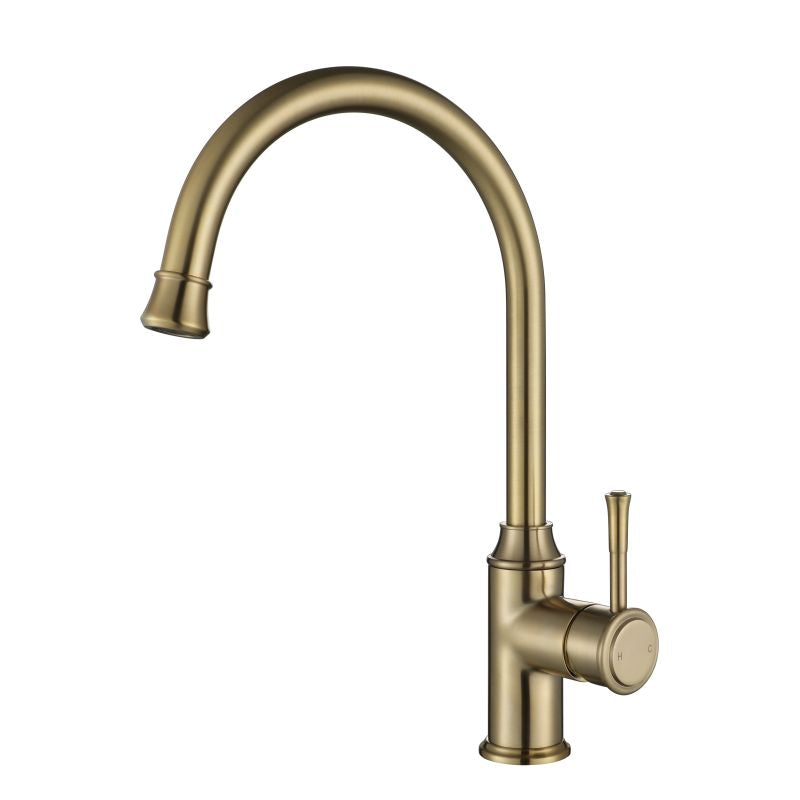MODERN NATIONAL MON004BN MONTPELLIER GOOSE NECK KITCHEN MIXER (BRUSHED NICKEL)