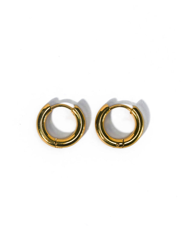 Thick Gold Mini Hoops
