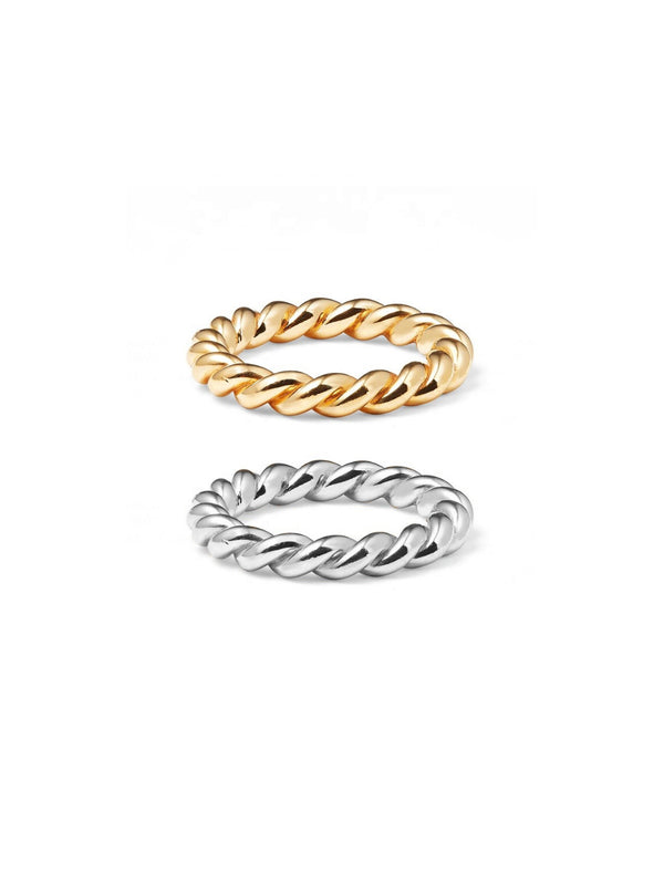 Bilingual Stackable Memories (Bundle of 1 Silver, 1 Gold Rings)