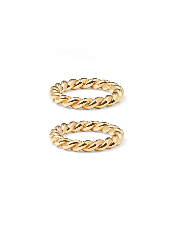 Stackable Memories (Bundle of 2 Gold Rings)
