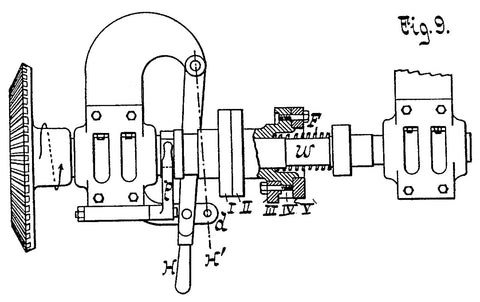 diesel engine diagram showing mechanism for injection timing and duration with bevel gear
