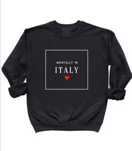 French Face Travel Sweatshirt: Italy
