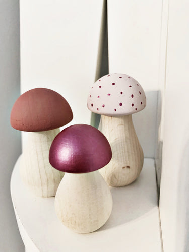 Pink mini mushrooms - Styled By Sally