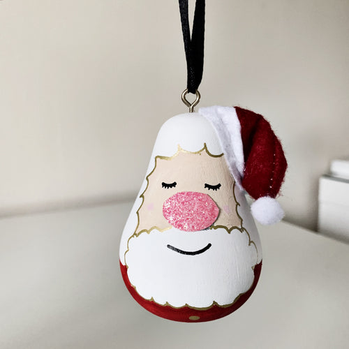 Father Christmas bauble - Styled By Sally