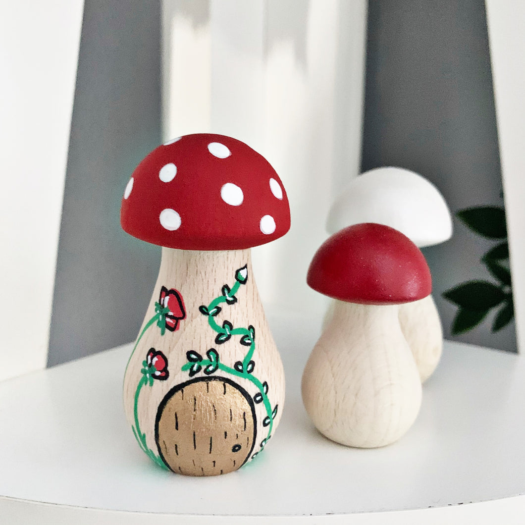 Mini Mushrooms 🍄 fairy door set - Styled By Sally