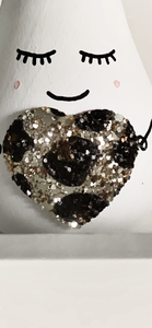Leopard heart Mini pear/Bauble - Styled By Sally