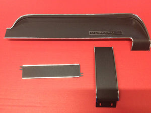 1967-68 Mustang Dash Trim 3 Pieces Black Camera Case Finish