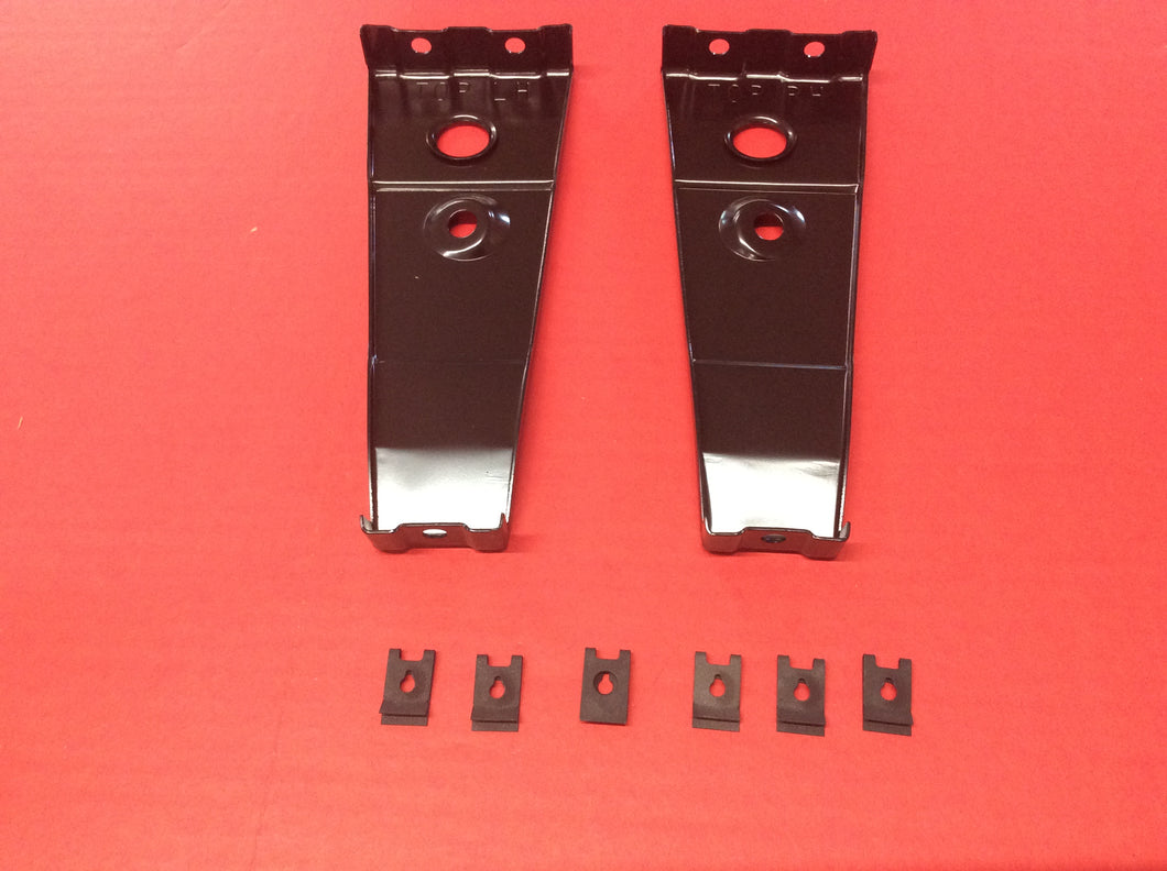 1966 Mustang Fog Light Mounting  Brackets For Grille Pair