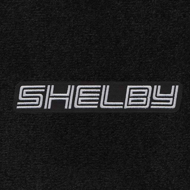 2007-2010 Shelby Floor Mats Black or Red with Silver Block Letter Word Shelby Logo 4 Piece  Mats