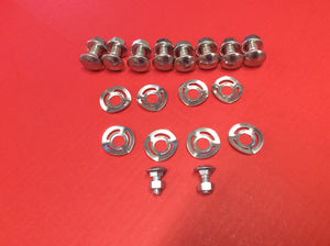 1965-1968 Mustang Deluxe Bumper Bolt Kit with Wave Washers