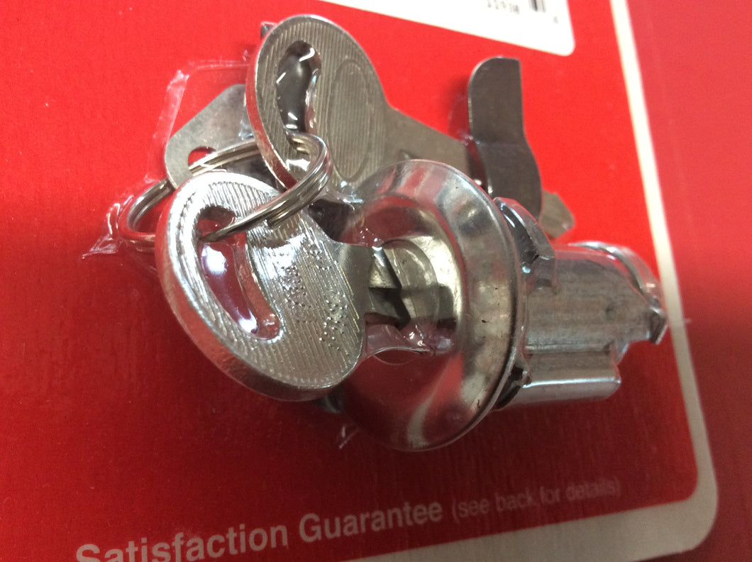 1967-1973  Mustang Trunk Lock with 2 Round Head Keys
