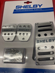 2015-2021 Mustang Shelby GT350 Gas, Brake, Clutch Pedal Covers Billet Aluminum with Shelby Logo