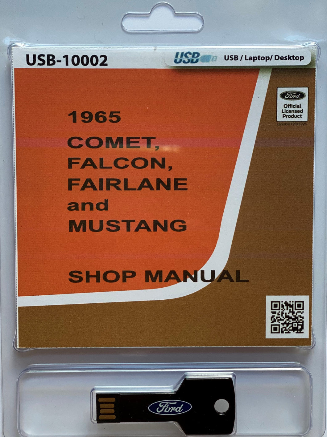 1965 Comet Falcon Fairlane and Mustang Shop Manual On USB Drive