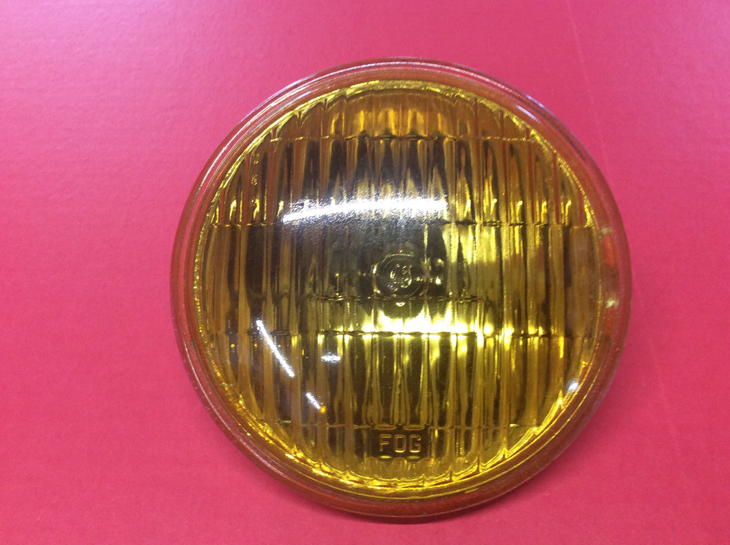 1965-1968  GE Mustang Fog Light Bulb Amber Each. Have GE LOGO and FOG molded into Glass.