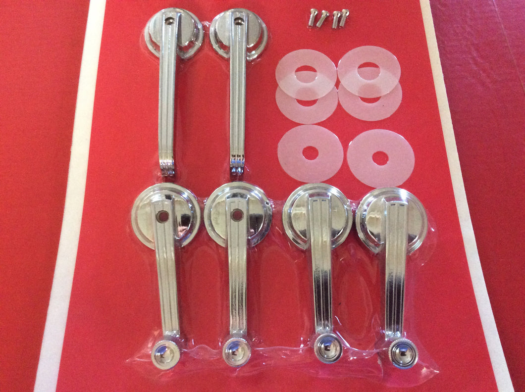 1967-1967 Mustang Interior Door Handles & Window Cranks Coupe & Convertible with Screws & Washers