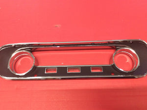1964 1/2-1965 Mustang Instrument Bezel Black Camera Case Finish Used with Warning Lights