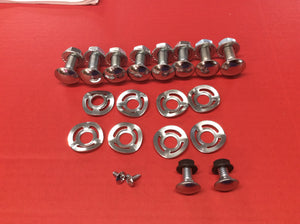 1969 Mustang Bumper Bolt Set. Front & Rear with Wave Washers