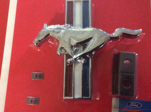 1966 Shelby Grill Emblem Pony & Bars with Backing Plate