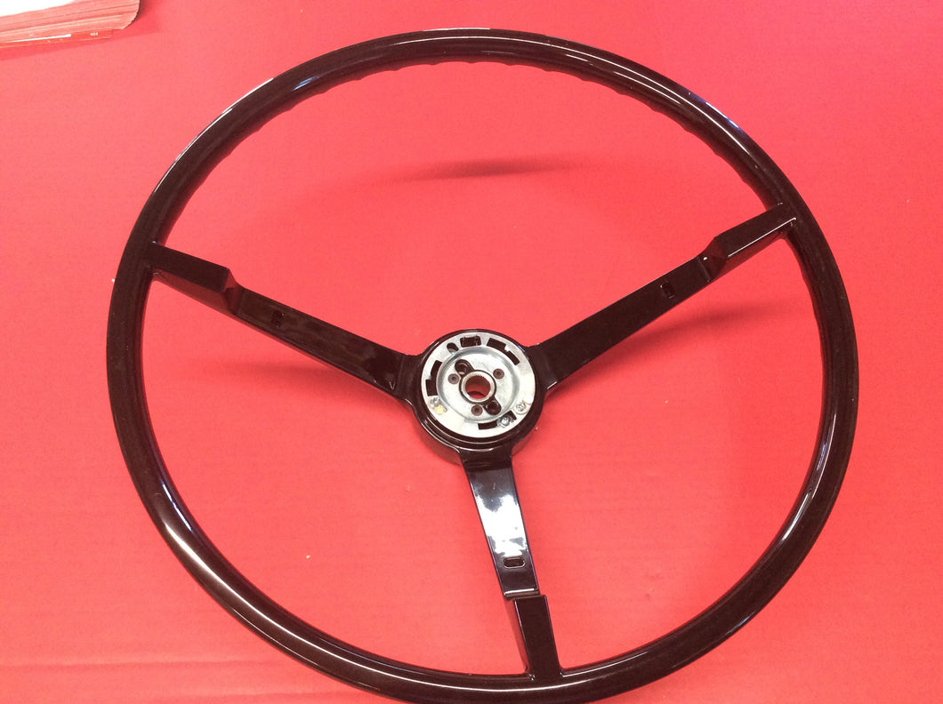 1965-1966 Mustang Black Steering Wheel For Cars with Alternator