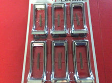 Load image into Gallery viewer, 1968 Mustang Tail Light Chrome Bezels  Set of 6 with Black Accent Line