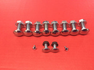 1969-1970 Bumper Bolt  Mounting Kit Stainless Steel Capped