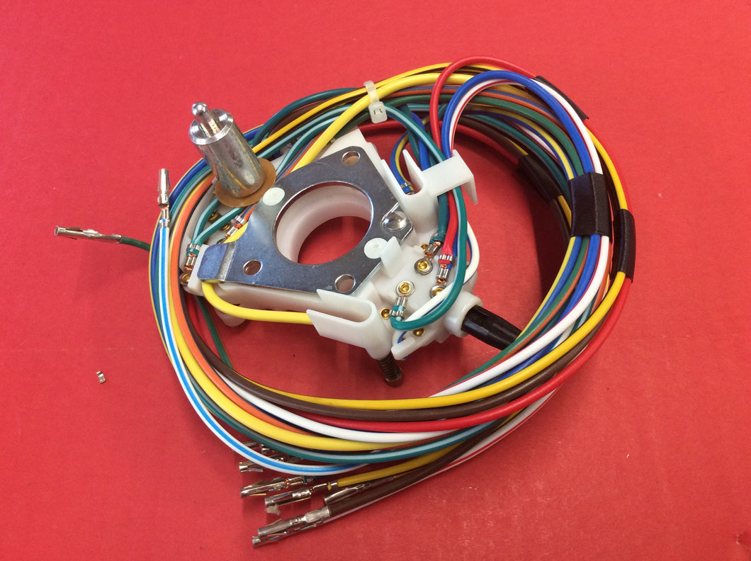 1968 Mustang Turn Signal Switch Assembly with Wiring Fixed Column
