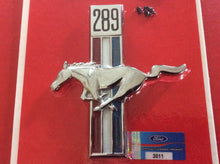 "Load image into Gallery viewer, 1967-68  Mustang ""289"" Front Fender Emblem Running Pony & Bars Left"