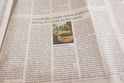 Goodfolks featured on Sri Lanka - Daily FT 05 September 2020