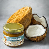 Certified Organic Coconut Jam from Goodfolks is Vegan and Gluten Free. Works well with most food items. The best coconut jam in the world.