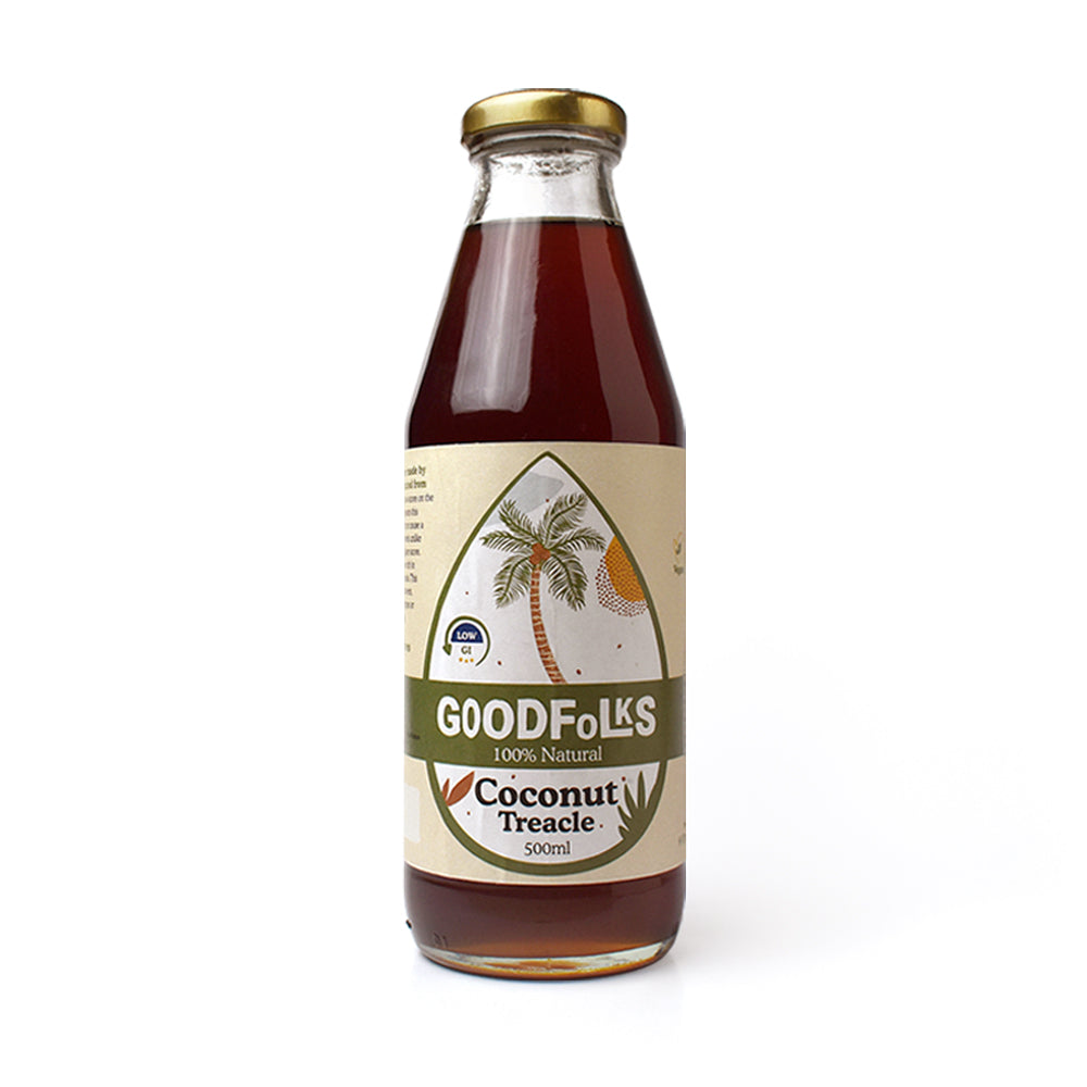 Sri Lanka certified organic coconut treacle from Goodfolks is a natural sweetener. This is also sometimes referred to as certified organic vegan coconut syrup from Sri Lanka. Delivering internationally. Made in Sri Lanka product.