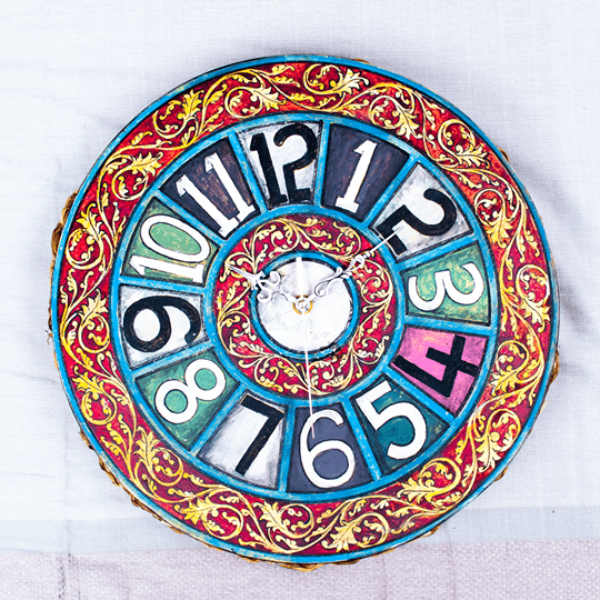 Kaleidosclock - Hand painted wooden clock - goodfolks.shop