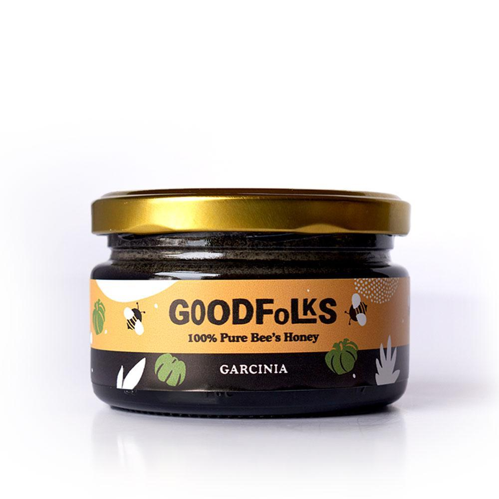 Garcinia Cambogia or Goraka as it is known locally is known as an Ayurveda medicine ingredient. Sri Lanka Pure Bee Honey with Garcinia Cambogia contains raw, filtered and untreated organic grade bee honey from Sri Lanka. Bee honey and Garcinia Cambogia is a made in Sri Lanka product.
