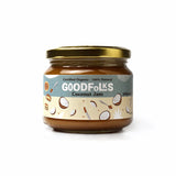 100% natural certified organic coconut jam spread with a gorgeous texture and irresistible taste. Has the consistency of Dulce-de-leche. Vegan and gluten free.