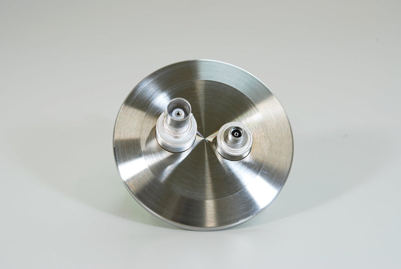 Custom Coaxial Hermetic Connector Welded to KF63 Flange by Globetech