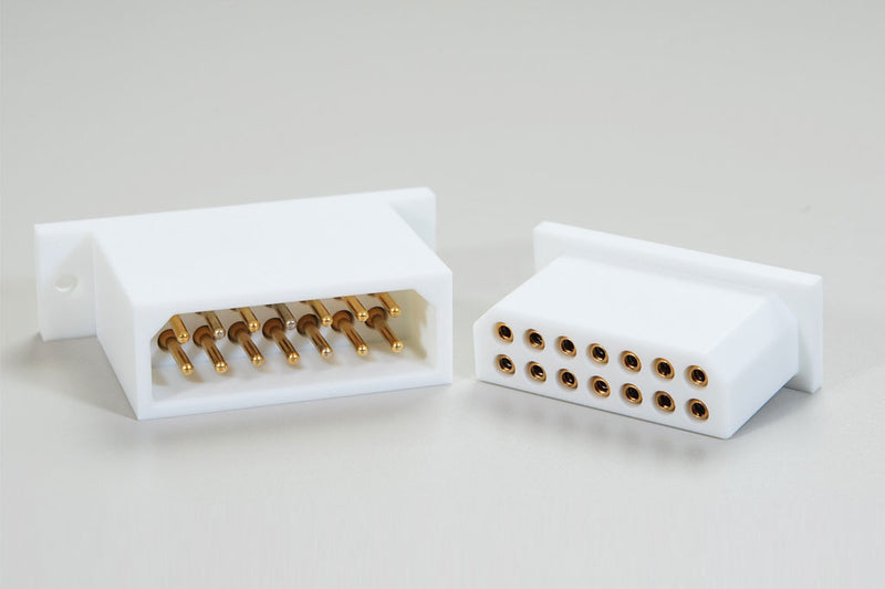 Custom 14-Pole Rectangular Connector by Globetech