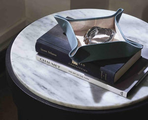 Decor Ideas: The Bynd Artisan Valet Leather Tray and Forbidden Hill Lacquered Keepsake Box