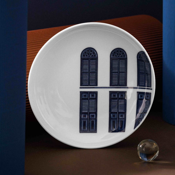 Singapore Blue Collection - House of Stories Plate