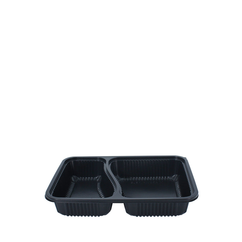 25pcs Bento Tray 2 Compartment with Lid - (₱11.50/set) - CCH Packaging Machine Trading