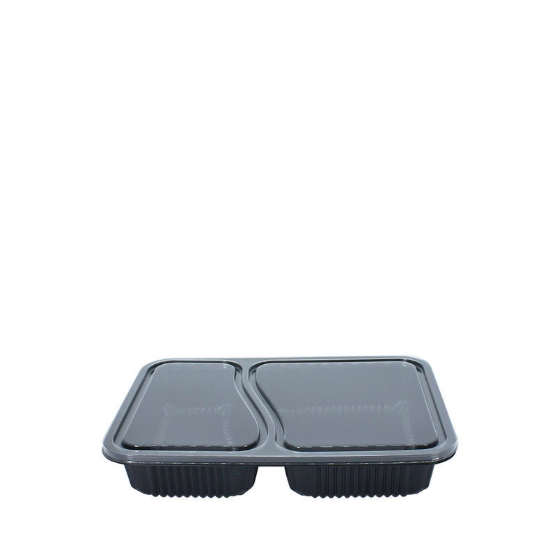 Bento Tray 2 Compartment with Lid 50set/pack (₱11.75/set) - CCH Packaging Machine Trading