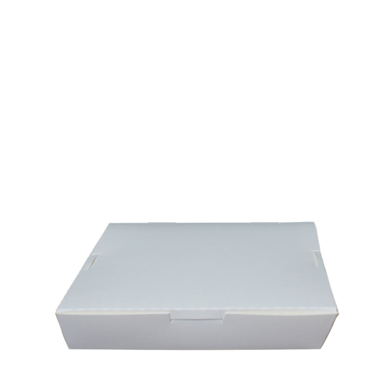 Paper Lunch Box White Tray PT105 2 Fold Compartment 1000ml 100pcs/pack (₱9.00/piece) - CCH Packaging Machine Trading