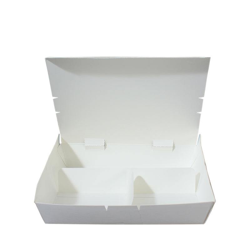Paper Lunch Box White Kraft 3 Compartment - (₱9.00/piece) - CCH Packaging Machine Trading