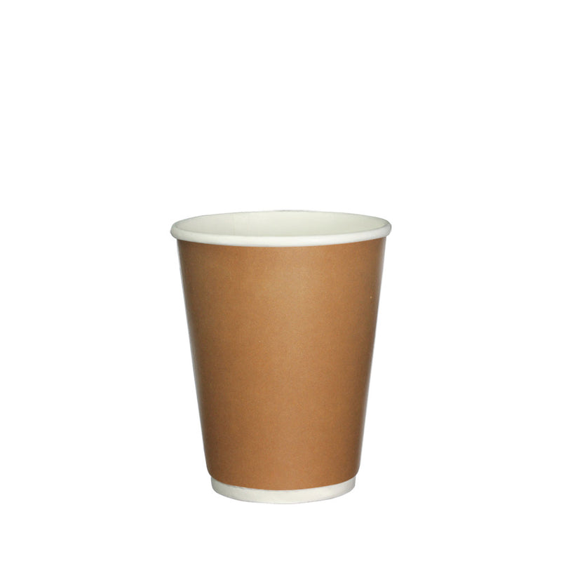 50pcs Double Wall Brown Paper Cup with lid 8oz 80mm Diameter - (₱5.00 to ₱6.00/set) - CCH Packaging Machine Trading