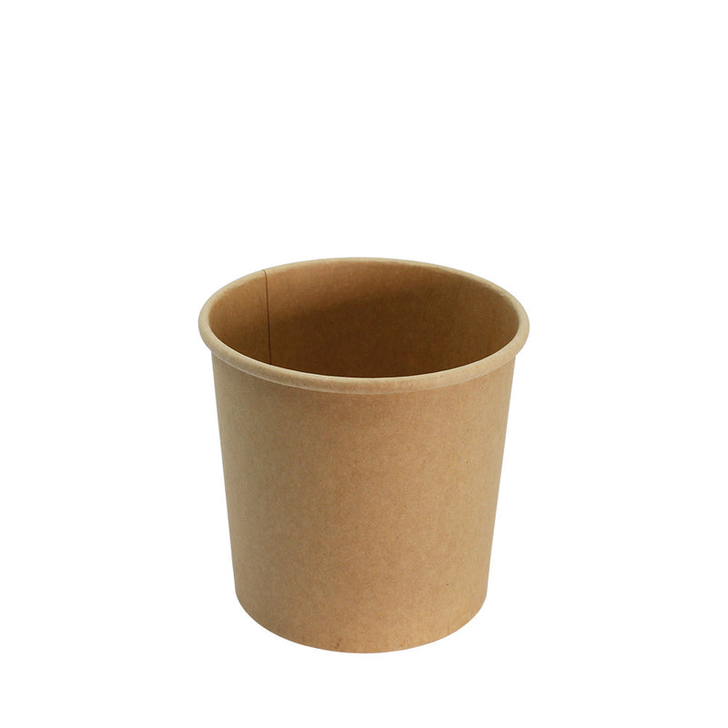 Ice Cream Tub Brown Kraft Paper with Lid 26oz 115mm Diameter 25pcs/pack (₱12.50/set) - CCH Packaging Machine Trading