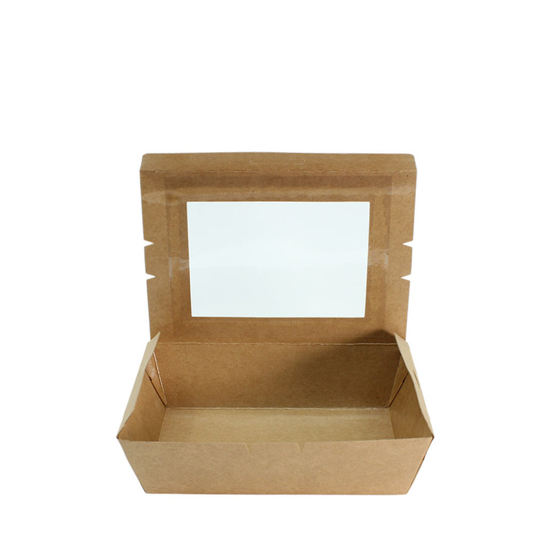 50pcs Paper Lunch Box Brown Kraft with Window 1 Compartment - (₱9.00/piece) - CCH Packaging Machine Trading