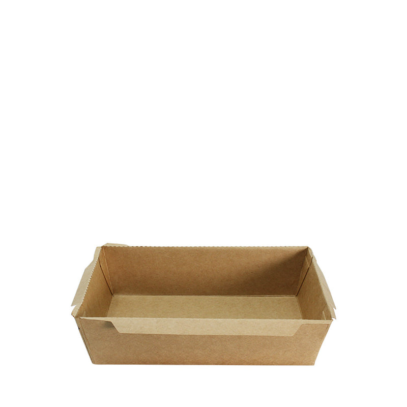 Paper Food Tray PT114 Brown Kraft with lid 1200ml 50set/pack (₱14.00/set) - CCH Packaging Machine Trading