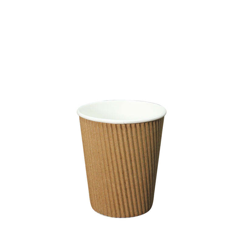 50pcs Double Wall Brown Ripple Paper Cup with lid 8oz 80mm Diameter - (₱5.00 to ₱6.00/set) - CCH Packaging Machine Trading