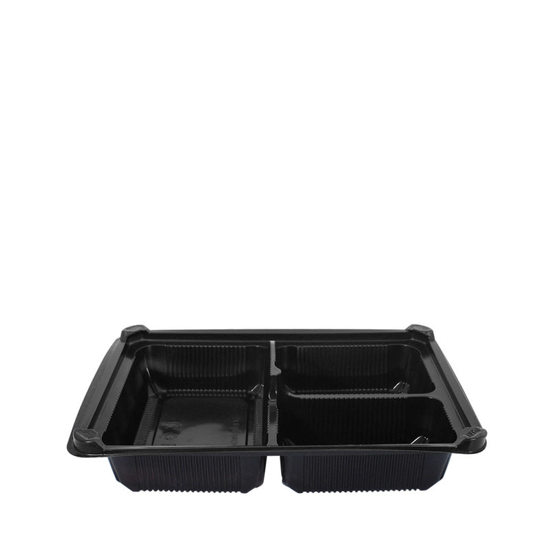 Bento Tray 3 Compartment with Lid 25pcs/set (₱11.75/set) - CCH Packaging Machine Trading