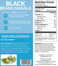 Load image into Gallery viewer, Black Beans Masala Flavor Pack (4 servings)