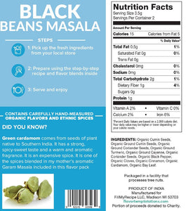 Black Beans Masala Flavor Pack (4 servings)