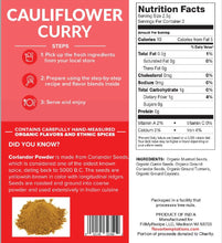 Load image into Gallery viewer, Cauliflower Curry Spices (4-8 servings)